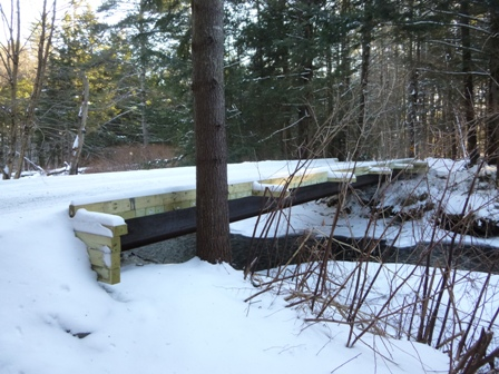 New bridge over Great Brook at Lower Cemetary Rd - 2014